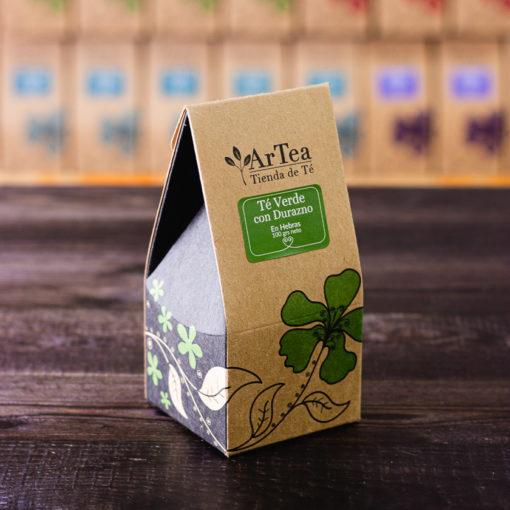 ArTea - Té Verde Saborizado con Durazno - 100 grs