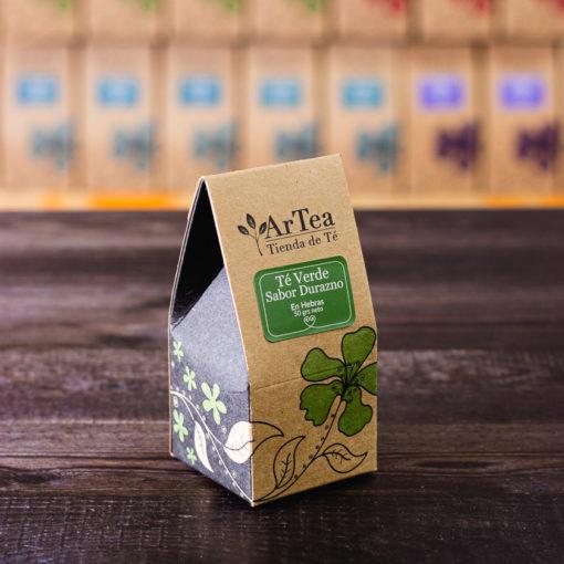 ArTea - Té Verde Saborizado con Durazno - 50 grs