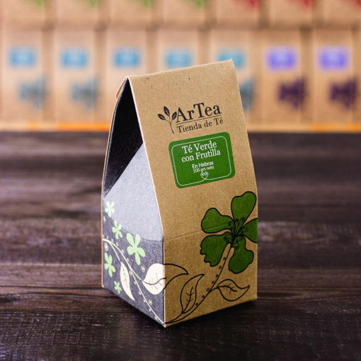 ArTea - Té Verde Saborizado con Frutilla - 100 grs