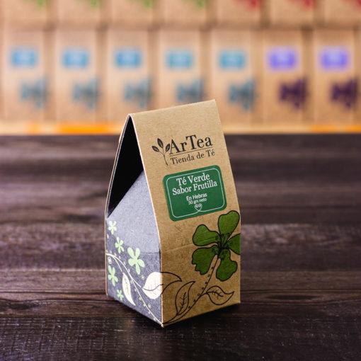 ArTea - Té Verde Saborizado con Frutilla - 50 grs
