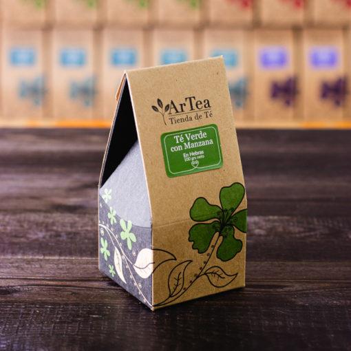 ArTea - Té Verde Saborizado con Manzana - 100 grs