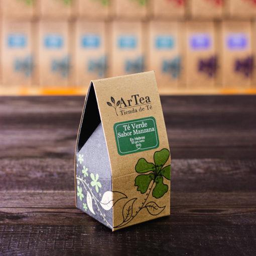 ArTea - Té Verde Saborizado con Manzana - 50 grs